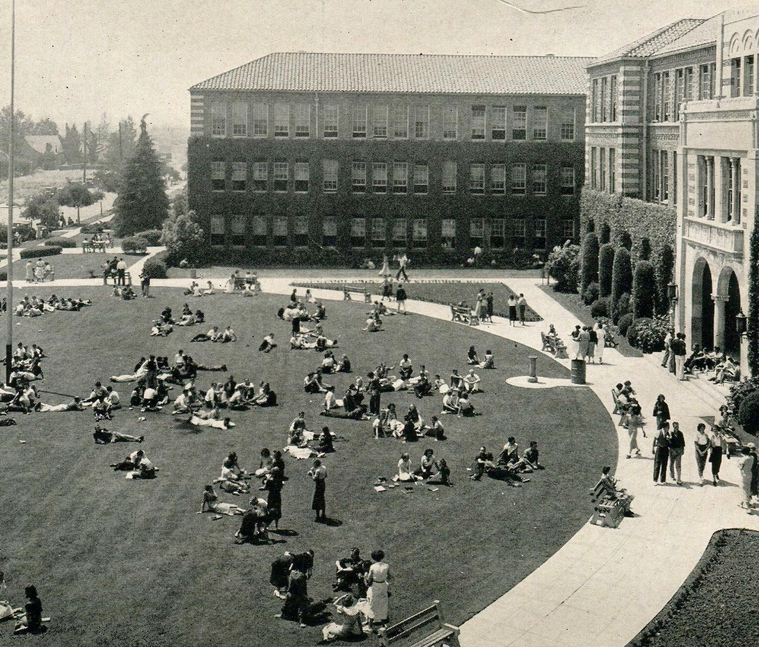 The school's front lawn 1937