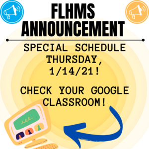 Check your google classroom for today's special schedule!