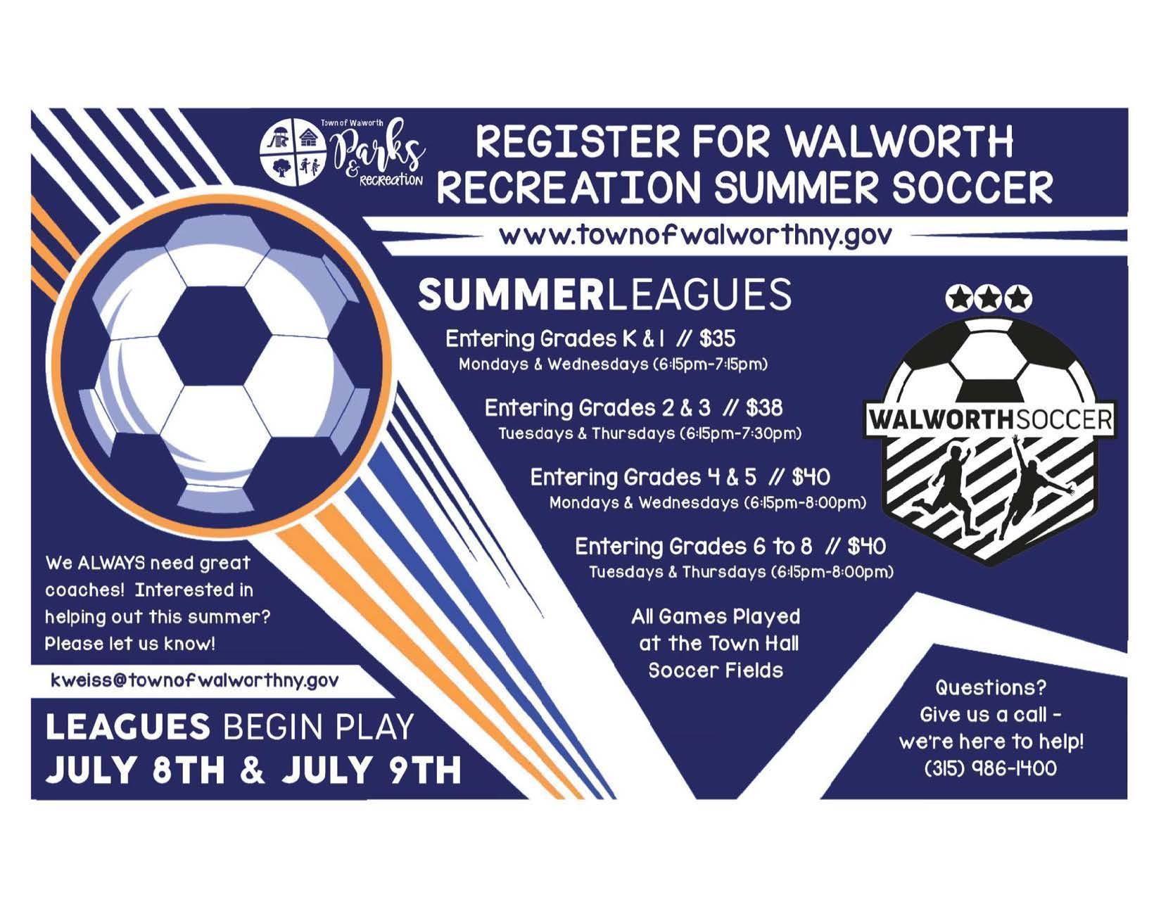 Walworth Rec Summer Soccer