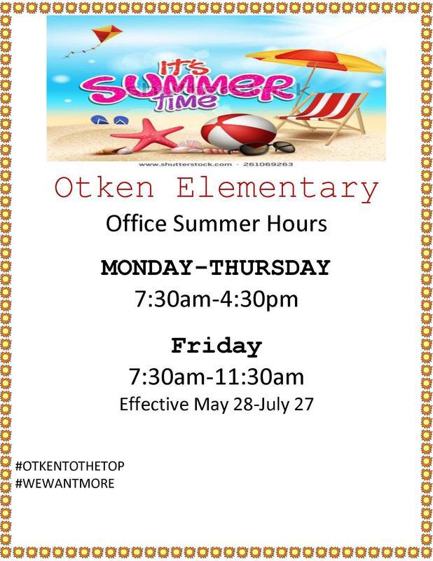Otken's summer hours
