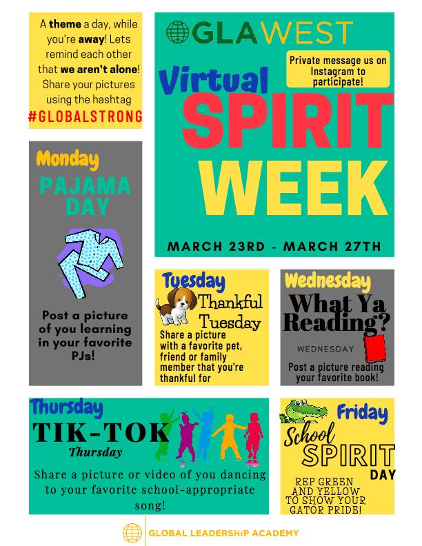 GLA Virtual Spirit Week Featured Photo