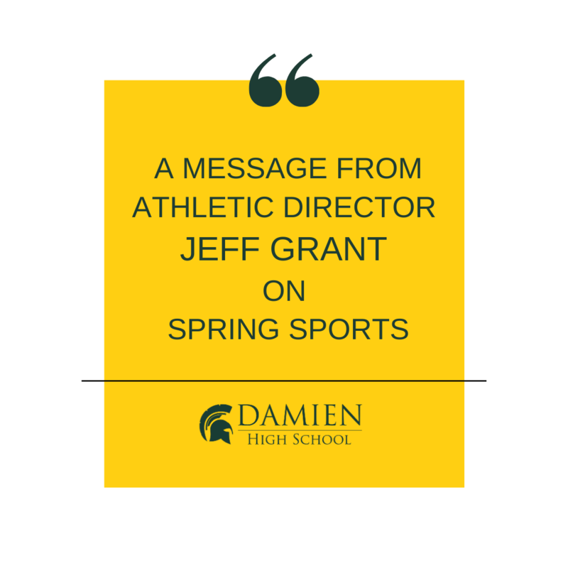 A Message from Athletic Director, Jeff Grant, on Spring Sports Featured Photo