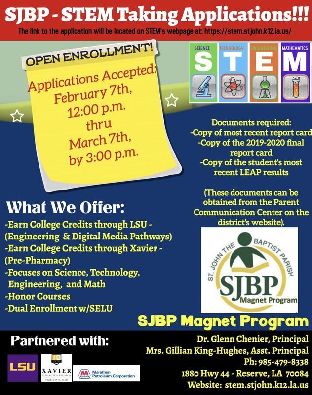 STEM Taking Applications Thumbnail Image