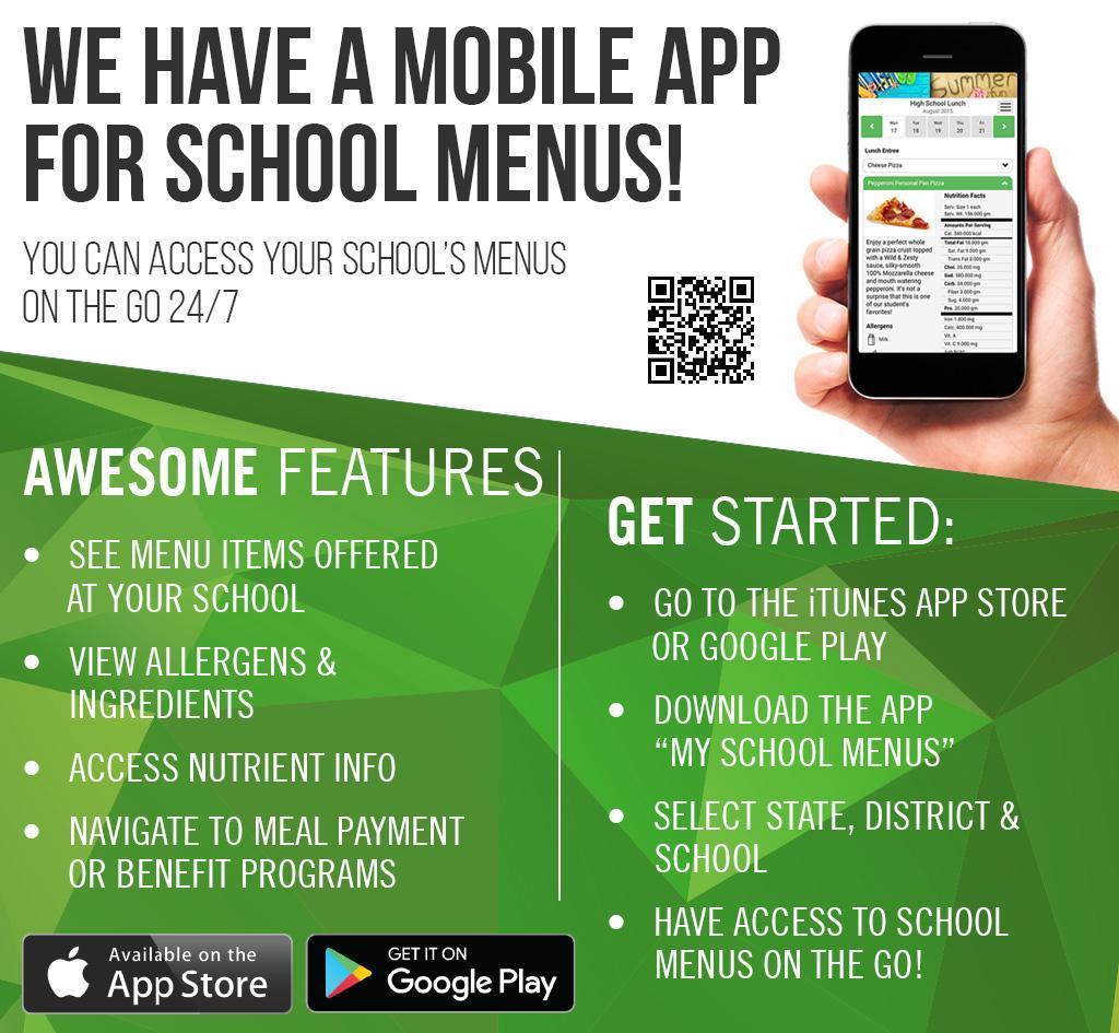 Food Service My Menus App