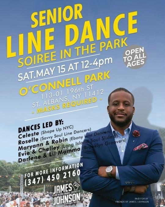 Line Dance In the Park Flyer