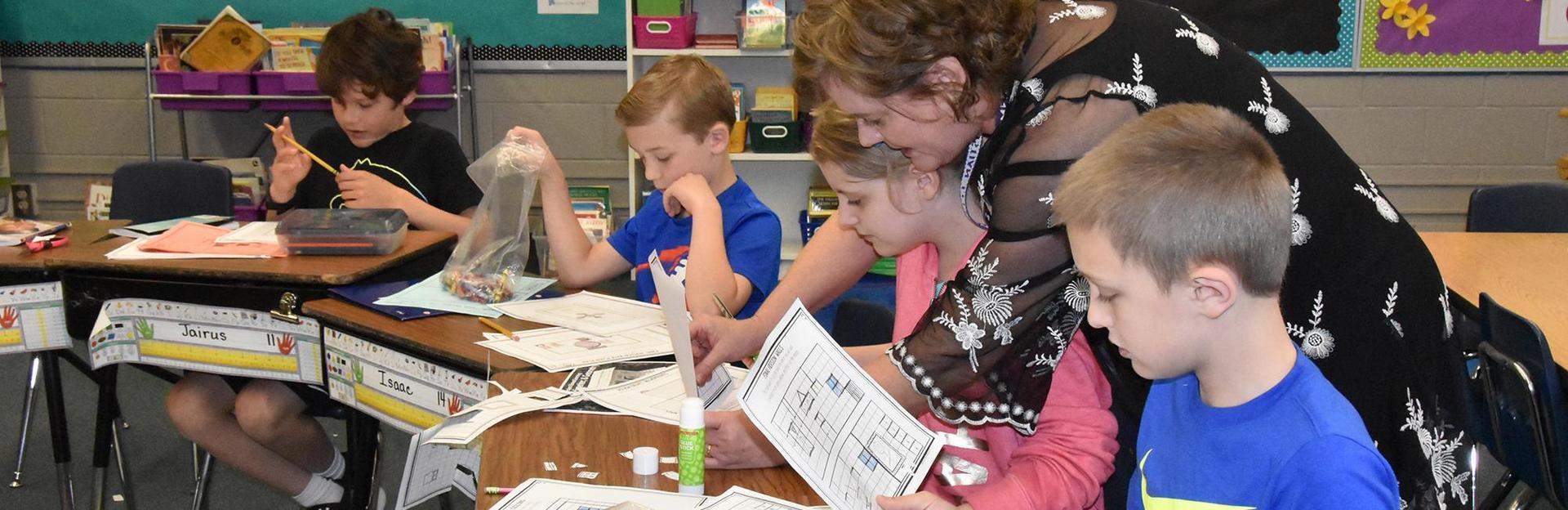 2nd graders in classrooom