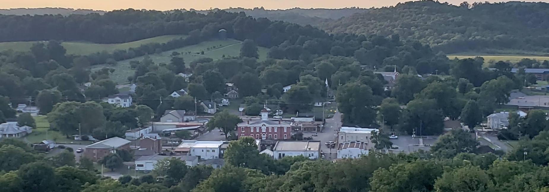 Overhead view of Lynchburg
