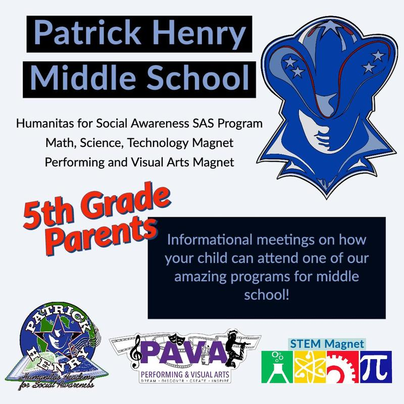 5th Grade Parents: Informational meetings on our academic programs for middle school Featured Photo