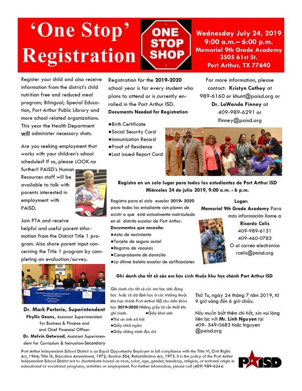 One-Stop Registration Featured Photo