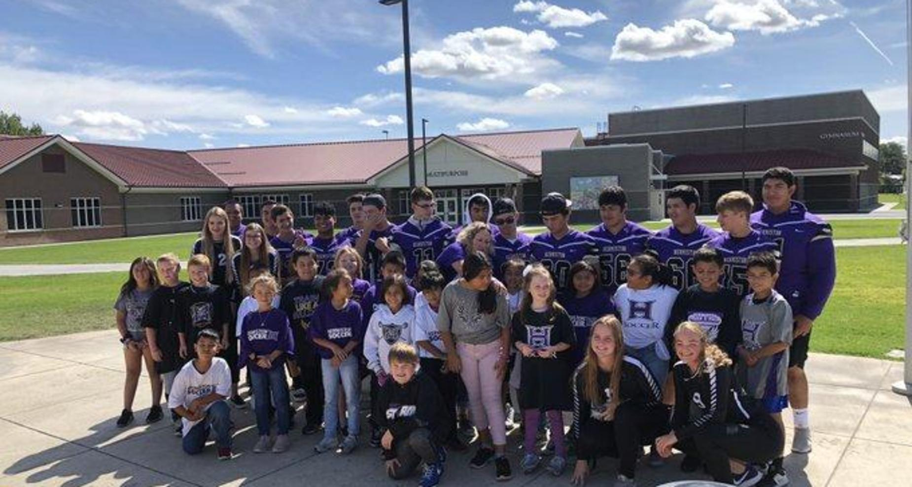 Sport athletes at West Park Elementary.