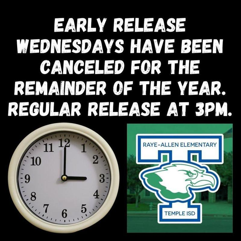 EARLY RELEASE WEDNESDAYS ARE CANCELED Featured Photo