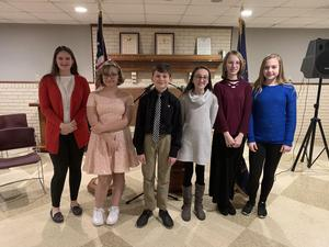 students that competed in God, Flag & Country contest