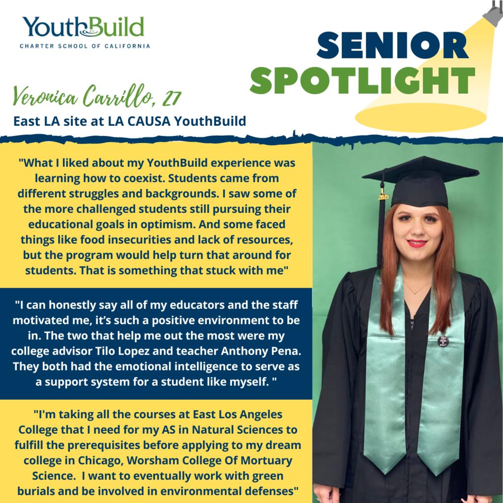 Senior Spotlight for graduate Veronica Carrillo