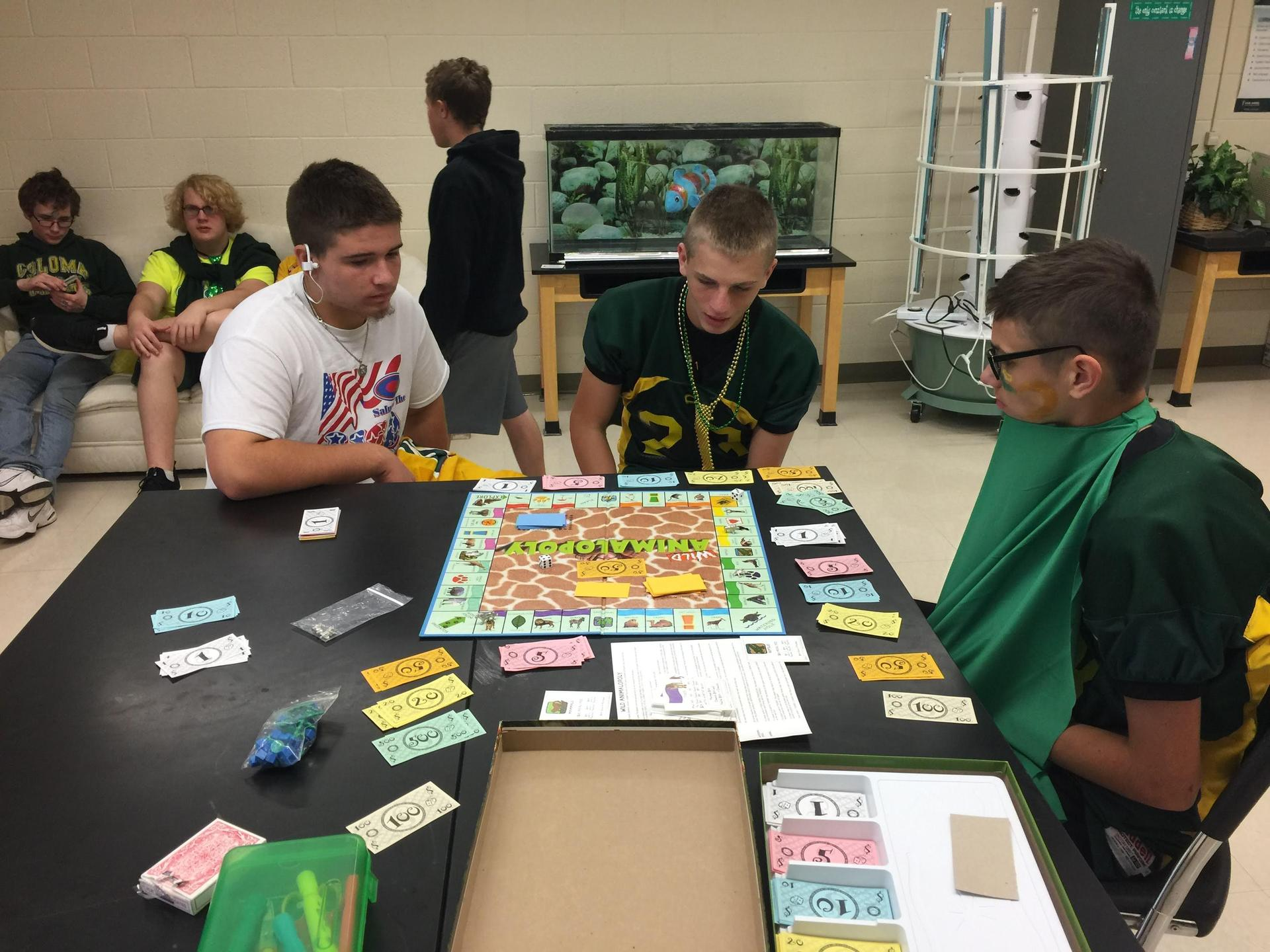 Playing some board games on Homecoming Day