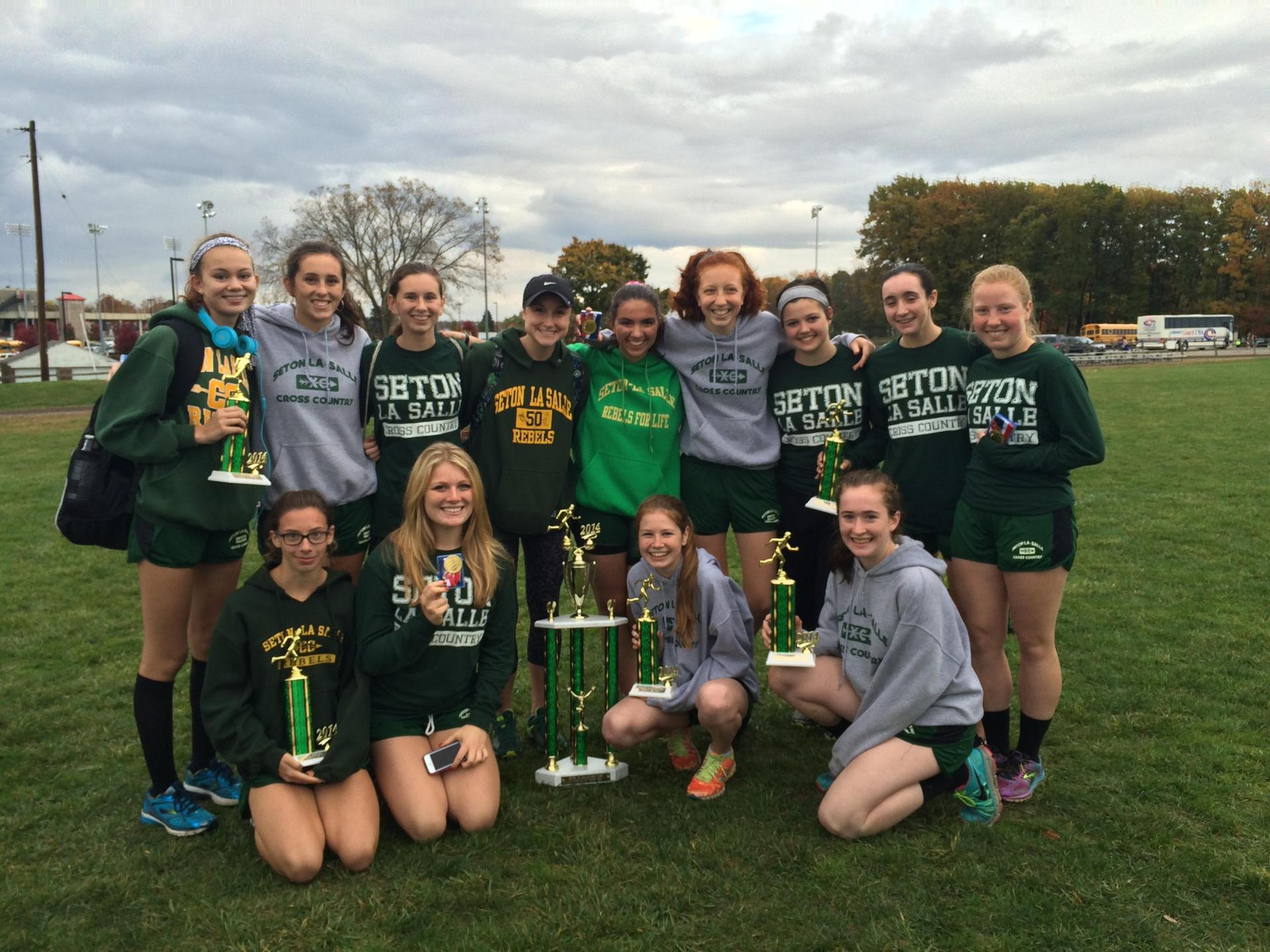 Cross Country Team after winning WPIAL Championship