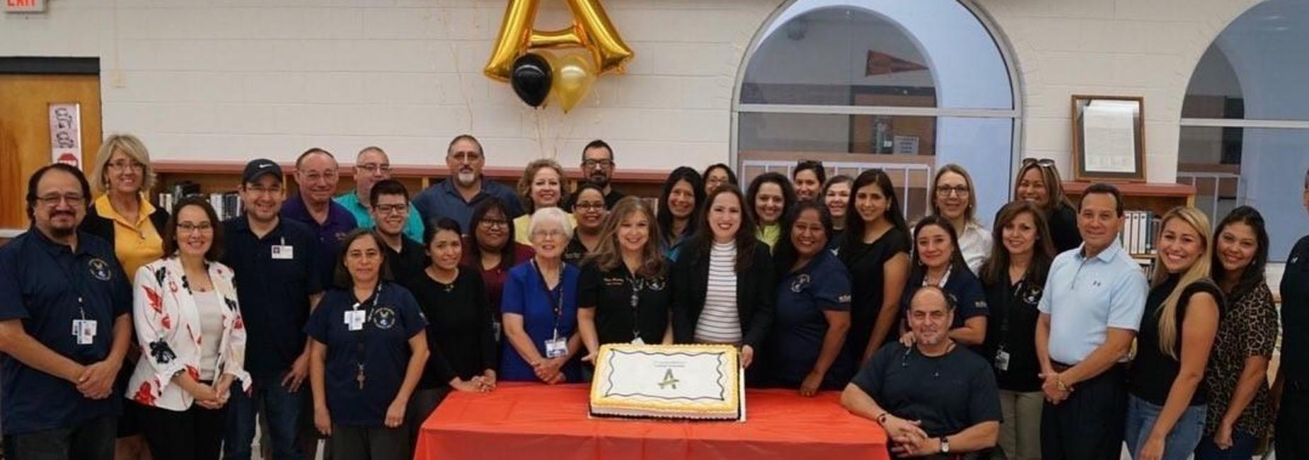 Lamar Academy celebrates perfect score