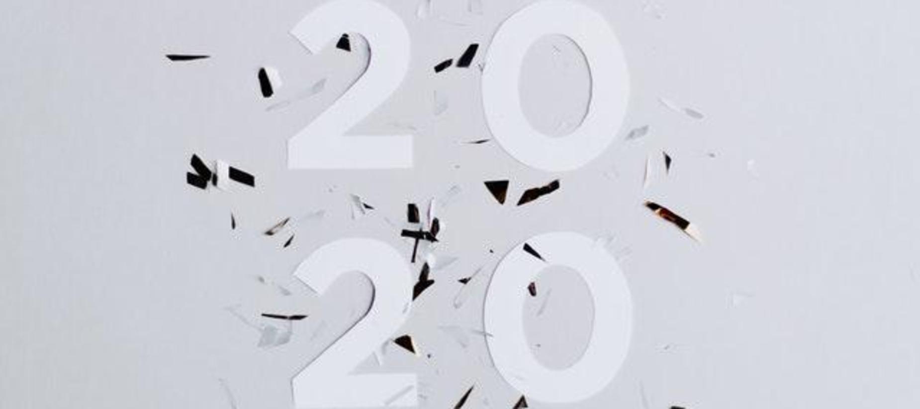 black & white numbers 2020