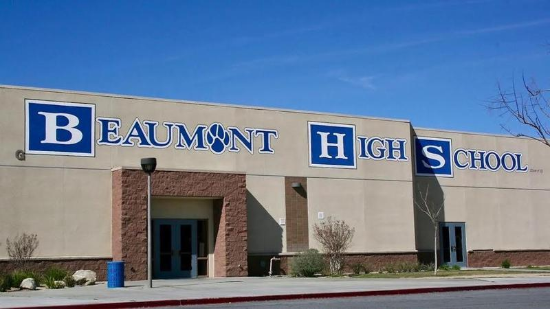 High School Building with the words Beaumont High School