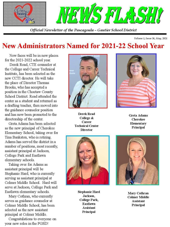 New administrators