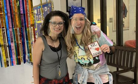 Mrs. Newsome and Mrs. Hampton are Rockin' at BRE!