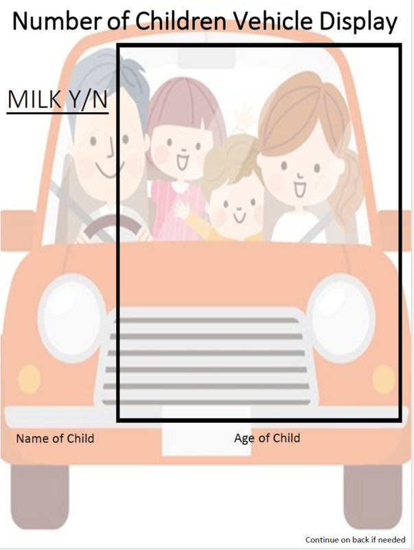 Number of Children Vehicle Display graphic