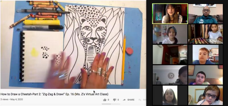 Ms. Z's Zoom Art Class