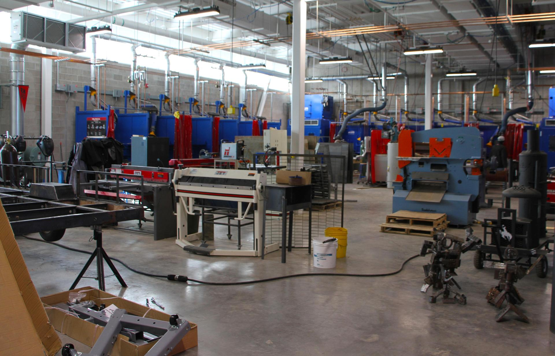 Welding shop at Pathway Innovation Center