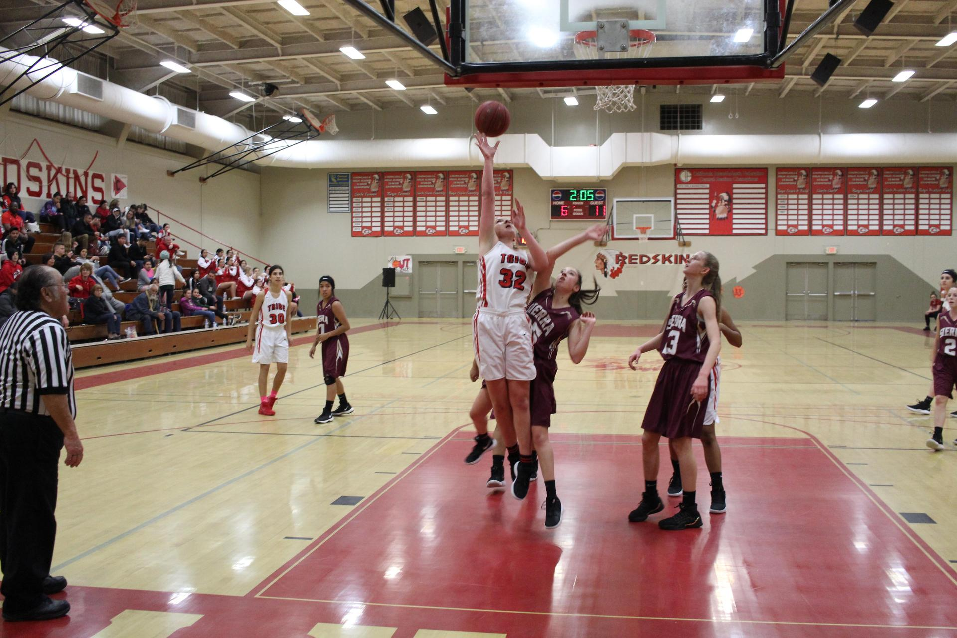 Varsity Girls Basketball playing Sierra