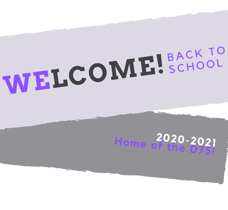 Welcome Back to school D75 Graphic