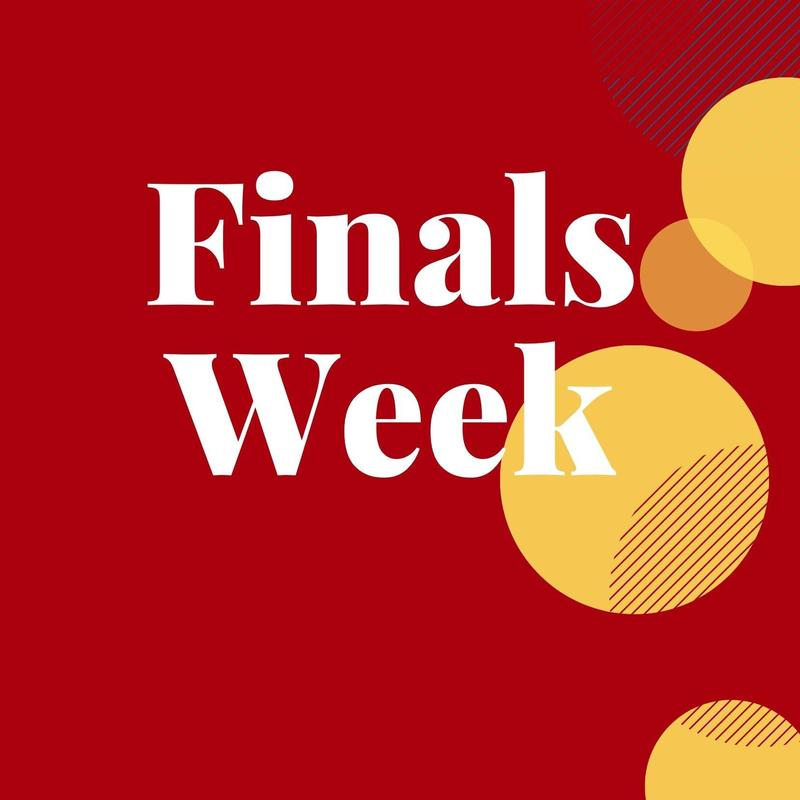 Finals Week Flyer