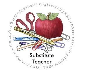 Substitute Teacher Apple Logo