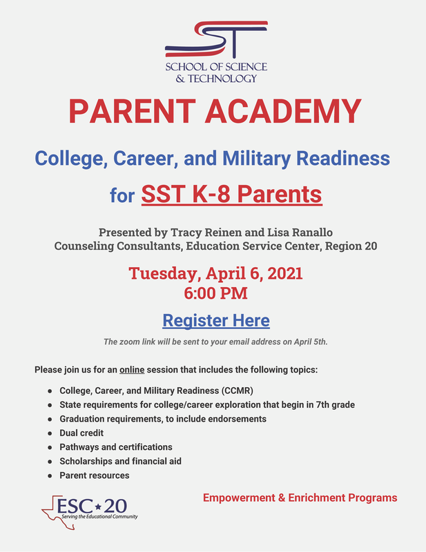 Parent Academy - College Career, and Military Readiness for SST K-8 Parents Featured Photo