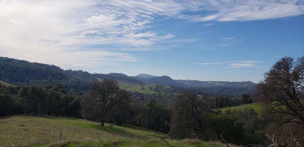 Hwy 49 roadside view of hills in Mokelumne Hill
