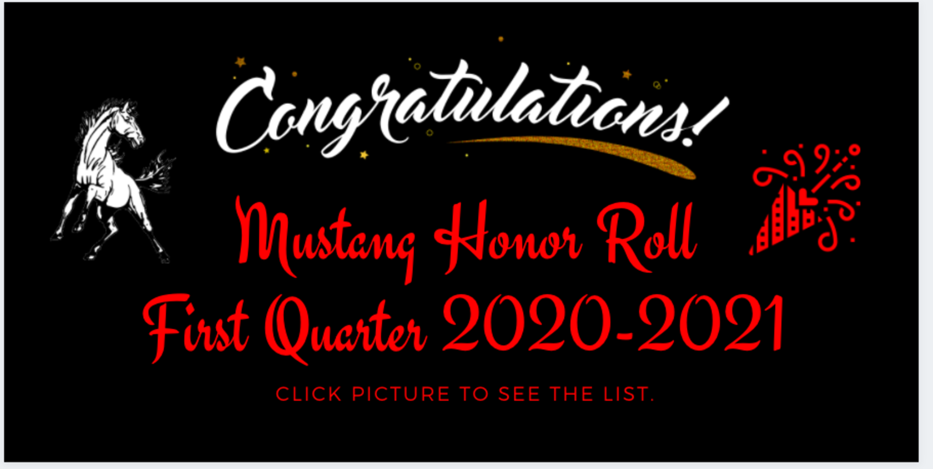 image shows bucking mustang and awards information.