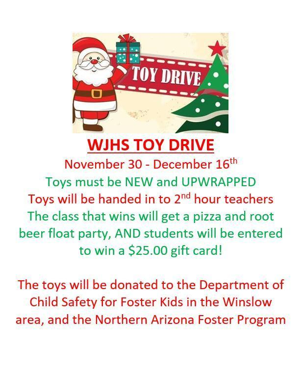 WJHS 2020 TOY DRIVE Featured Photo