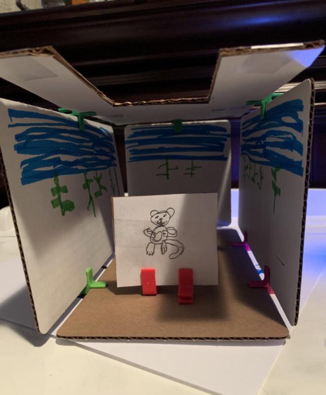 Cardboard diorama