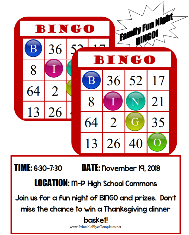 family fun night bingo featured photo