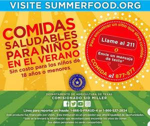Summer Food info in Spanish