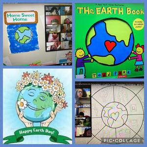 Earth day activities collage