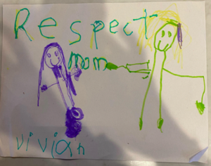 Respecting mom drawing