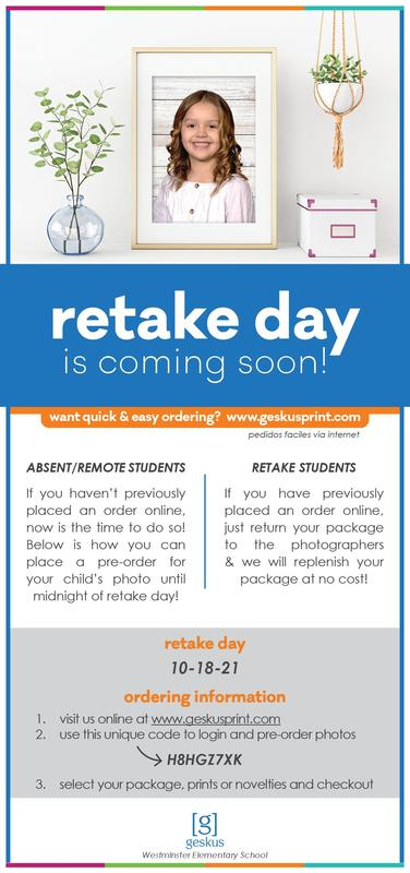 WES Picture Day ~ Retake & Absent Students Featured Photo