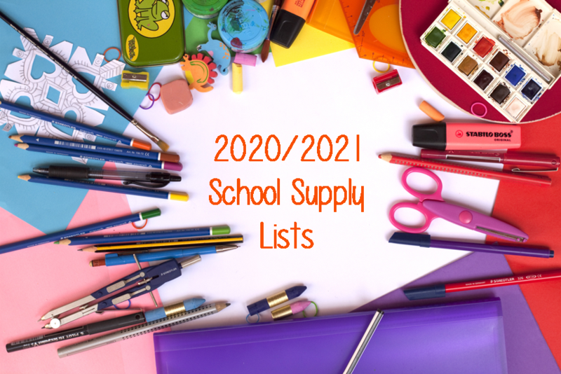 2020/2021 School Supply Lists Thumbnail Image