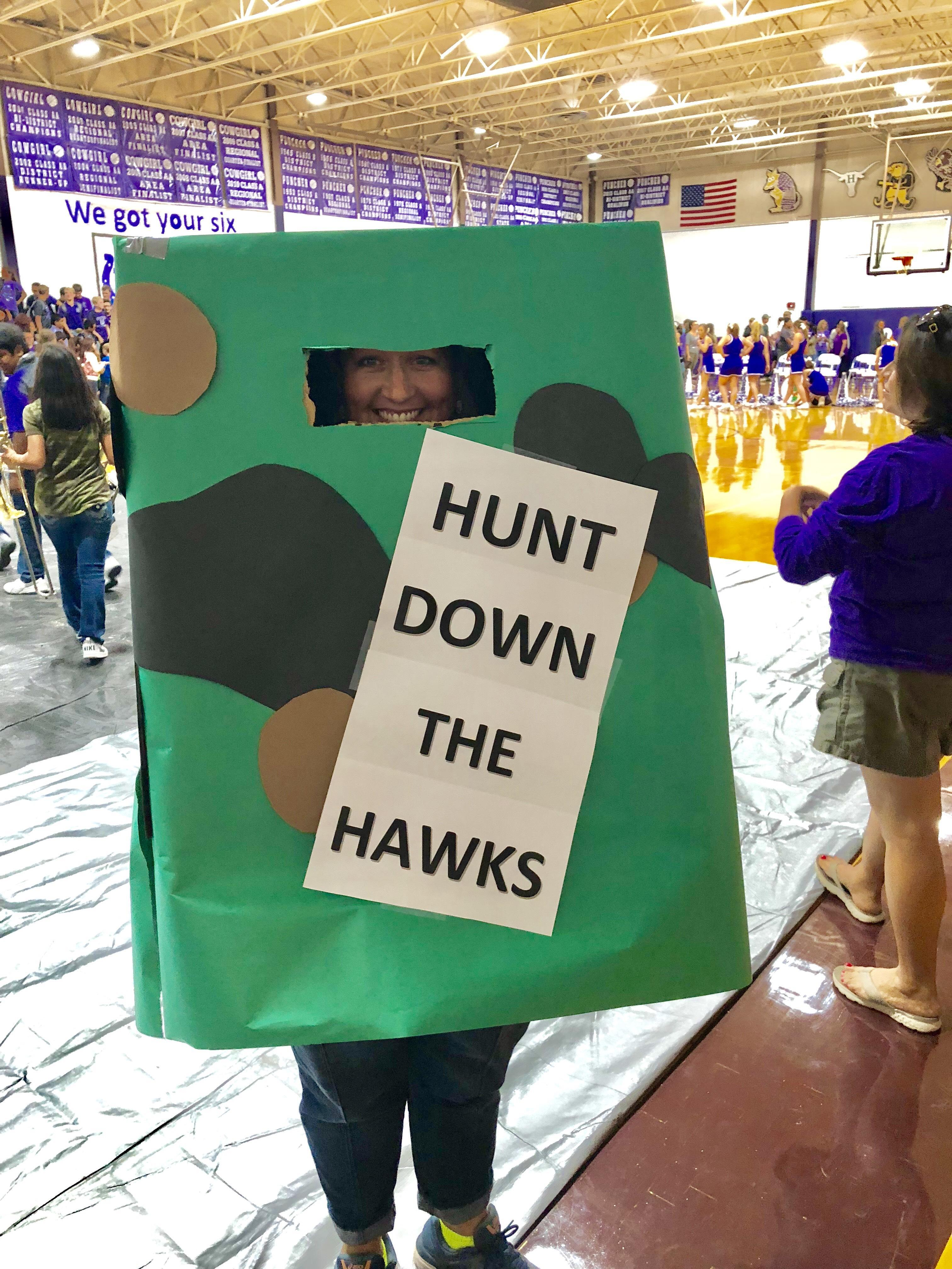 Mrs. Armstrong is ready to Hunt some Hawks!