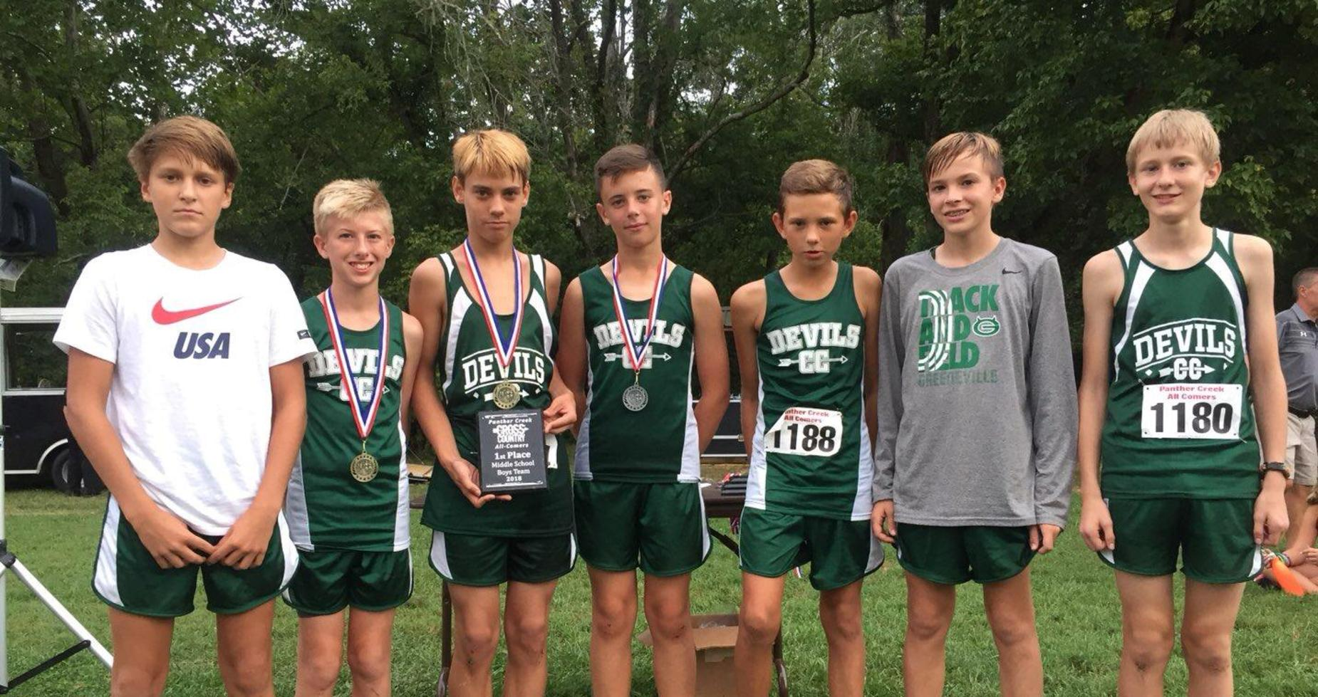 Picture of the GMS Boys XC team