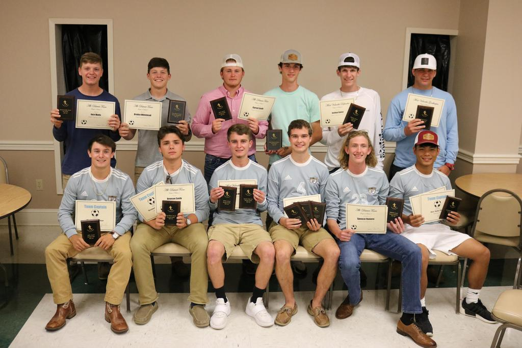 2017 soccer team showing certificate awards