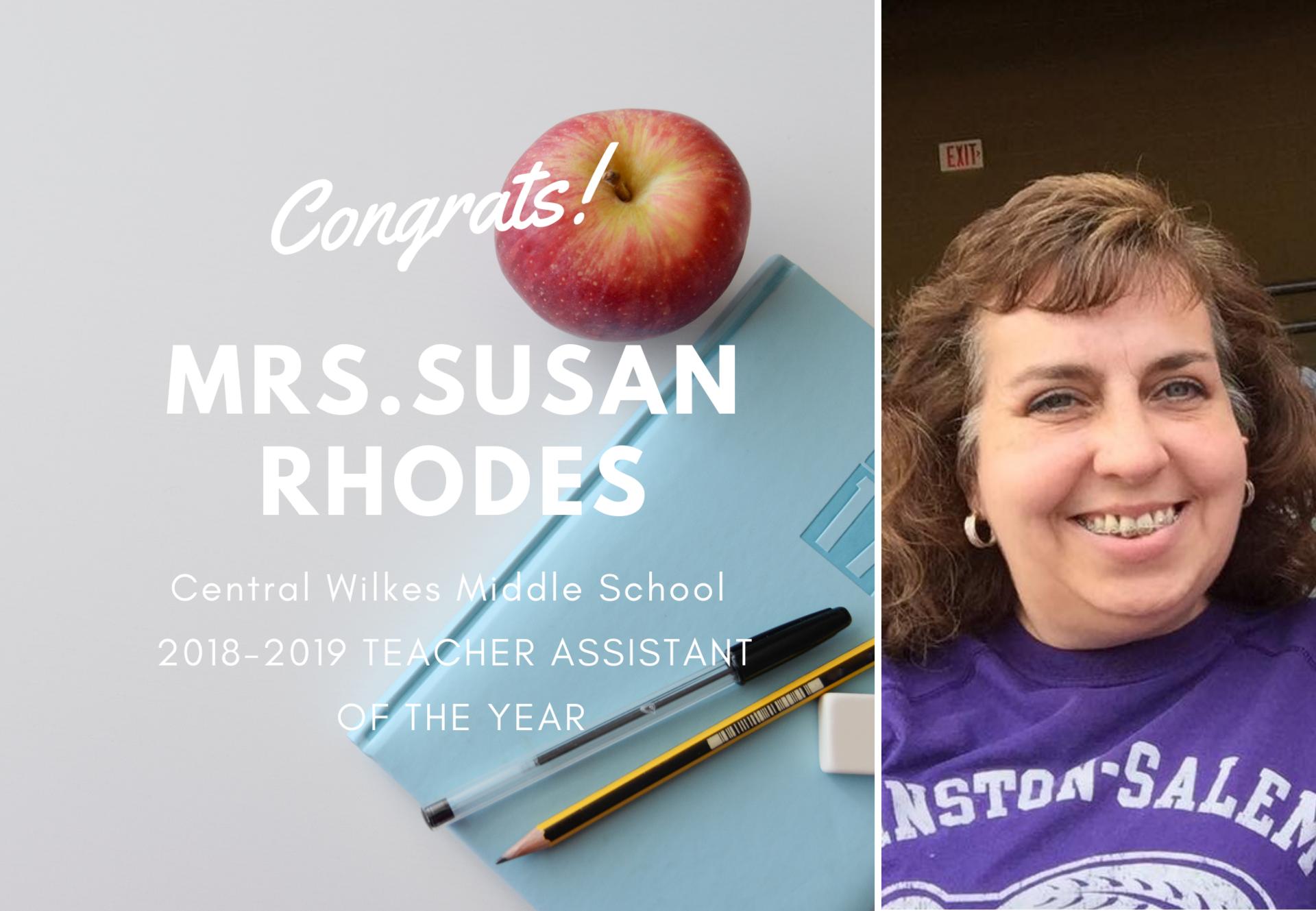 Mrs.Susan Rhodes ATOY 18-19