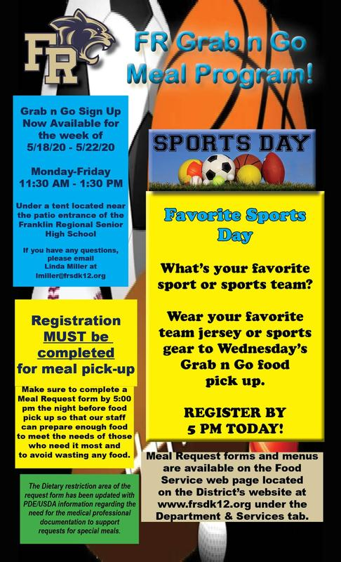 Grab n Go Meal Flyer 5.20.20 Sports Day