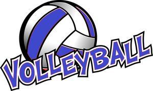 clip art of a volleyball ball
