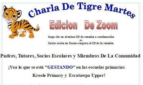 tiger talk flyer spanish