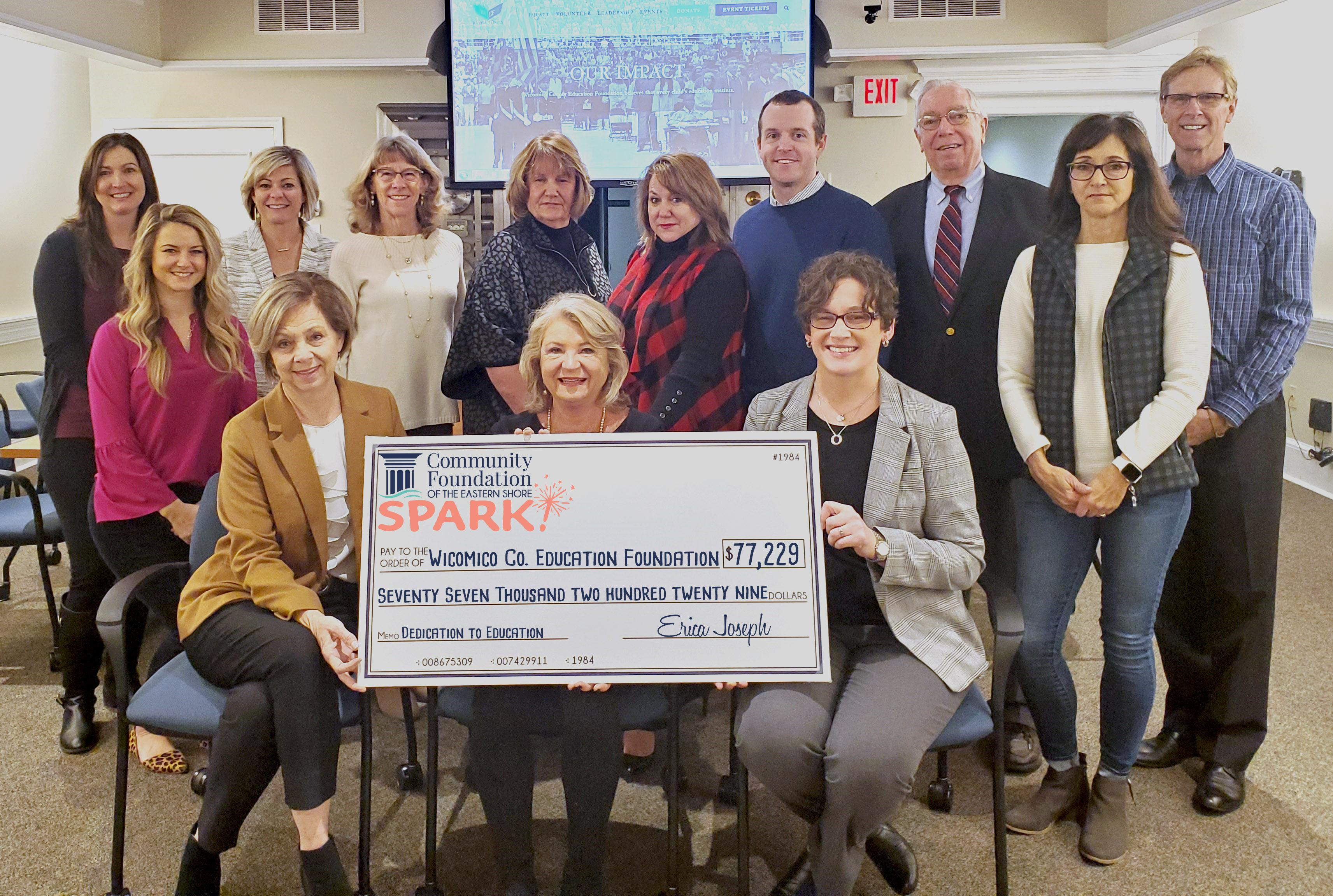 check presentation photo to wicomico